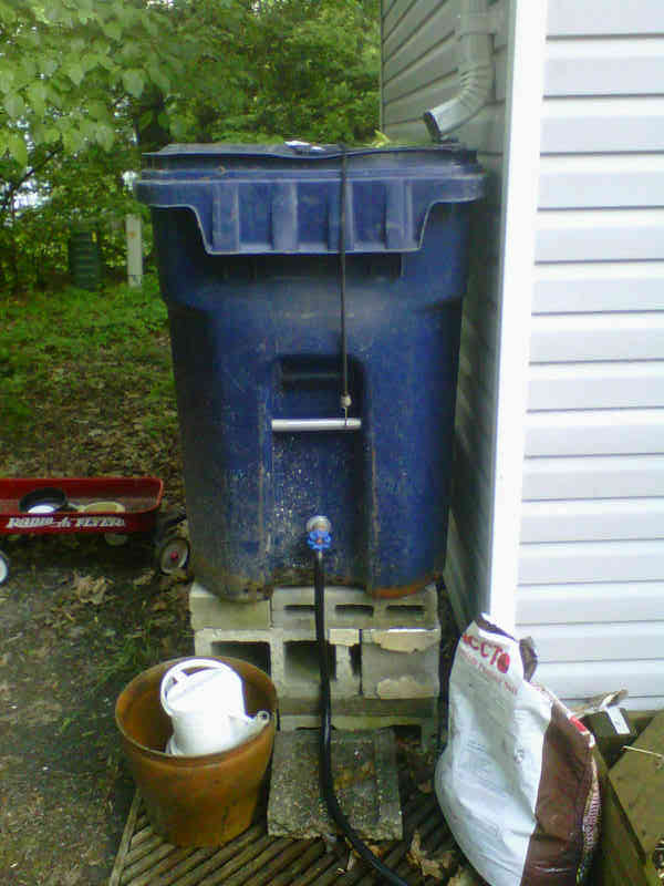 homemade rain barrel